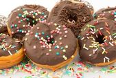 Chocolate Donuts — Stock Photo