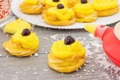 Zeppole for St. Joseph — Stock Photo