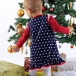 Baby and christmas tree — Stock Photo #15700321