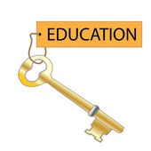 Education Is The Key — Stock Photo