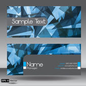 Front and Back Blue Modern Corporate Business Card Set — Stock Vector