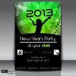 Stock Vector: New Year Party 2013 Vector Flyer Template