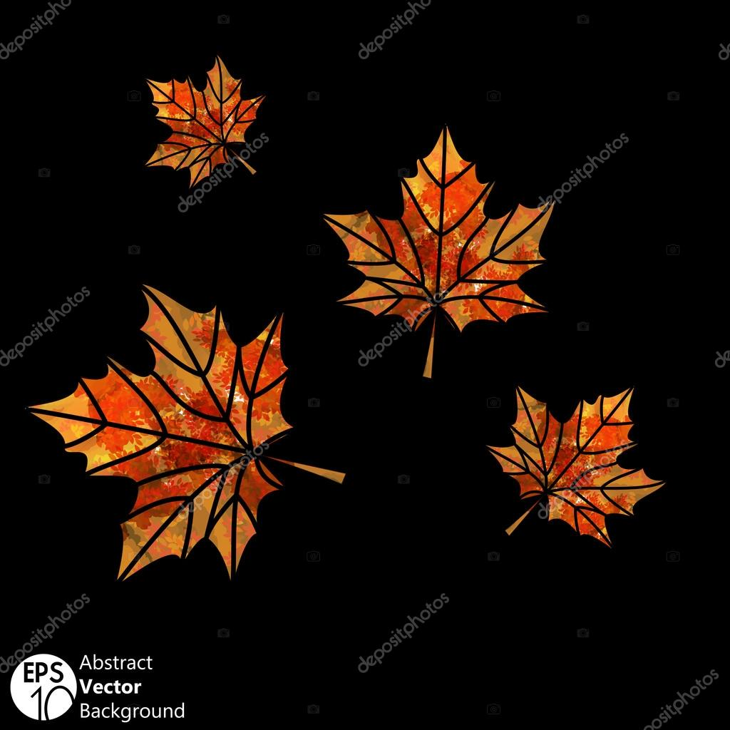 Flying  leaves Abstract seasonal background vector  Stock Vector #13171846