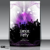 Disco Party Background. Vector Illustration — Vettoriale Stock