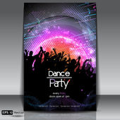 Disco Party Background. Vector Illustration — Stock Vector