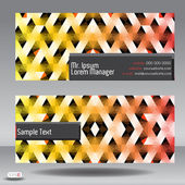 Business card abstract background. Vector illustration. — Wektor stockowy