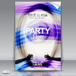 Modern party flyer with styled circles — Stock Vector