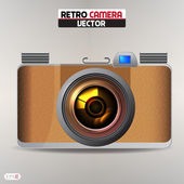 Retro camera Vector Illustration — Vector de stock