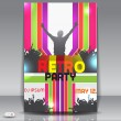 Retro disco party. Abstract flyer design template — Stock Vector #23472764