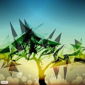 Streszczenie drzewo ilustracja wektorowa — Wektor stockowy