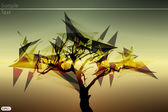 Abstract tree vector illustration — Cтоковый вектор