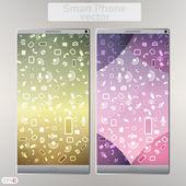 Smart Phone Infographic - Vector Design Concept — Stock Vector