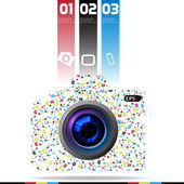 Modern Camera DSLR Design template can be used for infographics graphic or website layout vector — Stock Vector