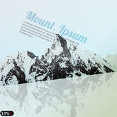 Mountain vector — Stock Vector