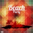 Stock Vector: Summer Beach Party Flyer Design