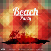 Letní beach party flyer design — Stock vektor