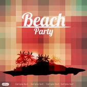 Summer Beach Party Flyer Design — Stock Vector
