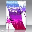 Summer Beach Party Flyer with Dancing Young — Stock Vector #26794847