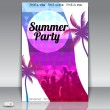 Summer Beach Party Flyer with Dancing Young — Stock Vector #26794871