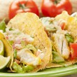 Homemade fresh fish tacos — Stockfoto