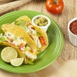 Homemade fresh fish tacos — Stock Photo #14839515