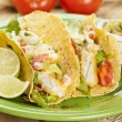 Stock Photo: Homemade fresh fish tacos