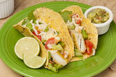 Homemade fresh fish tacos — Foto de Stock