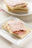 Hot Strawberry Toaster Pastry — Stock Photo