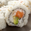 fresh homemade sushi roll — Stock Photo