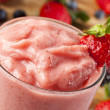 Fresh Organic Strawberry Smoothie - Stock Photo