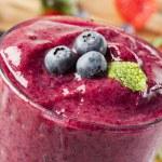 Fresh Organic Blueberry Smoothie — Stock Photo