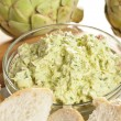 Fresh Organic Artichoke Dip - Stock Photo