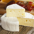 Stock Photo: Fresh Organic White Brie Cheese