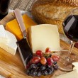 Red Wine And Cheese Plate — Stock Photo #19966681