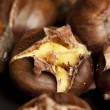 Organic Brown Chestnuts Roasting — Stock Photo