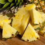 Fresh Yellow Organic Pineapple — Stock Photo #19967419