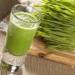 Stock Photo: Green Organic Wheat Grass Shot
