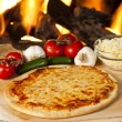 Classic Homemade Italian Cheese Pizza — Stock Photo #19968051