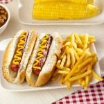 Organic All Beef Hotdog — Stock Photo