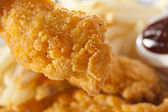 Organic Crispy Chicken Strips — Stock Photo