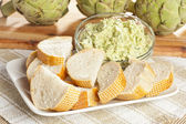 Fresh Organic Artichoke Dip — Stock Photo