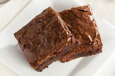 Fresh Homemade Chocolate Brownie — Stock Photo