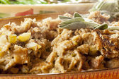 Homemade Stuffing made for Thanksgiving — Stock Photo