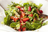 Fresh Green Salad with Strawberries — Stock Photo