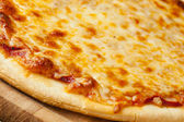 Classic Homemade Italian Cheese Pizza — Stock Photo