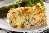 Breaded Homemade Chicken Cordon Bleu — Stock Photo