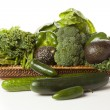 Group of Fresh Organic Assorted Green Vegetables — Stock Photo