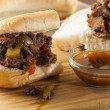 Juicy Homemade Italian Beef Sandwich - Stok fotoğraf