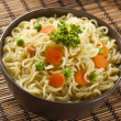 Homemade Quick Ramen Noodles - Stock Photo