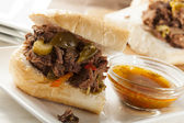Juicy Homemade Italian Beef Sandwich — Stock Photo